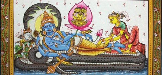 lord_vishnu_with_lakshmi_and_saraswati_on_sheshnag_pm07